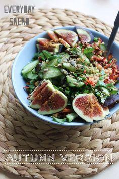 Everyday Salad w/ Fig dressing [heartybite.blogspot.com]