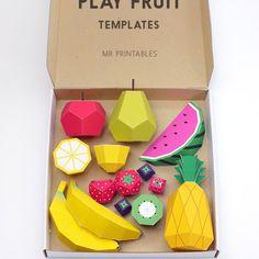Une corbeille de fruits à déguster // paper toys