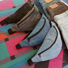 Denim Fanny Pack Blue Jean Bum bag Jeans Bumbag Handmade Waist Bag Recycled Repurposed Vintage Denim Belt Bag Grunge – – My World Diy Jeans, Diy Bags Jeans, Vintage Denim, Denim Kunst, Blue Jeans, Fanny Pack Pattern, Denim Belt, Bum Bag, Fashion Kids
