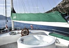 Luxury jacuzzi on the flybridge of the S. Dogu gulet #luxuryjacuzzi