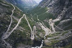 Crazy mountain road, Norway