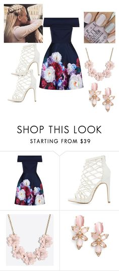 """""""Del Pastel"""" by esme-g-710 on Polyvore featuring Ted Baker, Charlotte Russe, J.Crew and Kate Spade"""