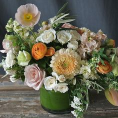 Cream and peach spring delivery design from Sullivan Owen. Call 215-964-9790 to order for yourself or for a friend!
