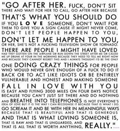 That is what loving someone is...