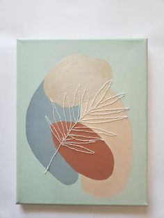Simple Canvas Paintings, Small Canvas Art, Diy Canvas Art, Abstract Line Art, Thread Art, Embroidery Art, Painting Inspiration, Painting & Drawing, Art Projects
