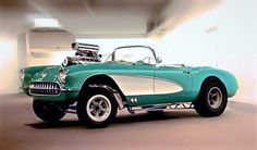 1960 Corvette Blown Fuelie Drag Car.