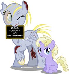 Derpy and Silver Belle by Vector-Brony