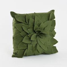 Flower Decorative 17-inch Throw Pillow - Overstock Shopping - Great Deals on Throw Pillows