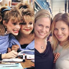 Candace Cameron  Andrea Barber who played D.J. Tanner  Kimmy Gibbler on Full House! #ThenAndNow