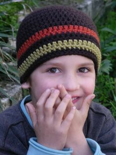 Crochet Hat Pattern - Boys Easy Peasy Hat Crochet Pattern No.102 Emailed2U SEVEN SIZES suits BEGINNERS