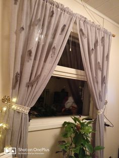 Feather curtains
