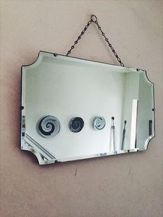 Vintage Art Deco Frameless Mirror/Scalloped by ReclecticEmporium