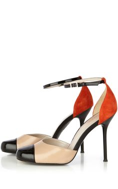 COLOURBLOCK ANKLE STRAP SHOE