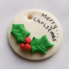 Fimo Christmas plaque / ornament by DigiSparkle on Etsy, £1.50