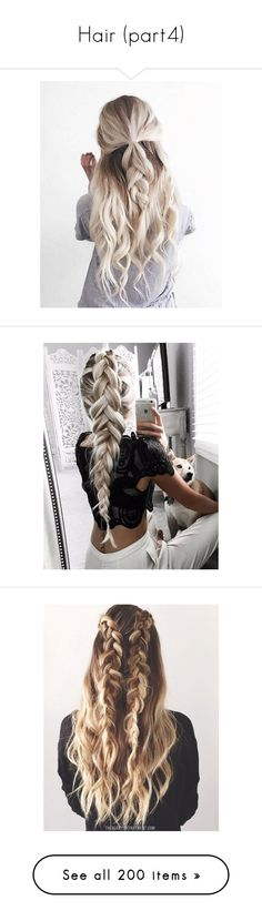 """""""Hair (part4)"""" by ashanti-chubb ❤ liked on Polyvore featuring beauty products, haircare, hair styling tools, hair, hairstyles, braids, accessories, hair accessories, hairstyle and long hair accessories"""