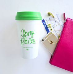 Ashley Brooke Designs- Going Places Travel Mug #abd