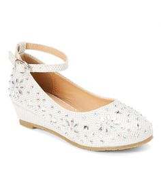 Look at this #zulilyfind! Off-$12.99 White Ankle-Strap Sophie Dress Shoe - Infant, Toddler & Girls #zulilyfinds
