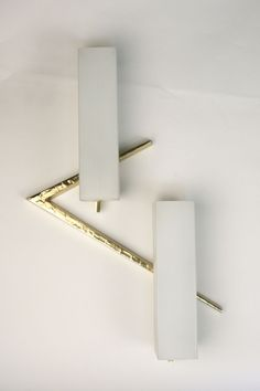 Anonymous; Brass and Glass Wall Light by Lunel, 1970.