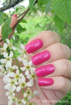 OPI La Paz-itively Hot swatch Aline Nail polish so pretty!