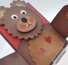 Bear Hugs Handmade Card #zibbet so cute!