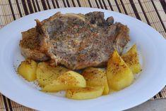 Μπριζόλες λεμονάτες φούρνου Cookbook Recipes, Pork Recipes, Cooking Recipes, Steak, Tasty, Sweets, Chicken, Food, Sweet Pastries