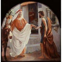 The Good Samaritan Christen Dalsgaard (1824-1907 Danish) Canvas Art - Christen Dalsgaard (24 x 36)