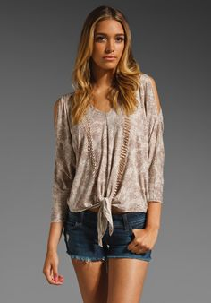 TOWNSEN Snake Knotted Long Sleeve in Natural at Revolve Clothing