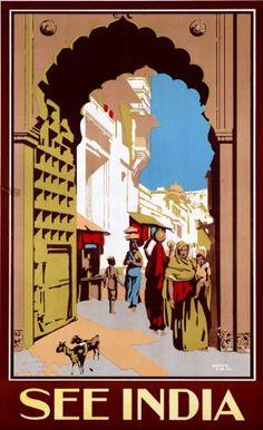 25 Best India & Pakistan Vintage Travel Poster Prints images