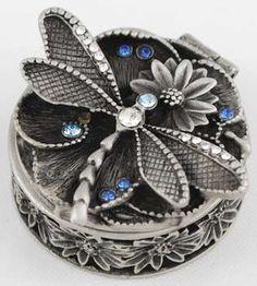 Dragonfly Decor, Dragonfly Jewelry, Dragonfly Tattoo, Jewellery Boxes, Jewelry Box, Jewelery, Swarovski, Pretty Box, Trinket Boxes