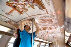 Train of Versailles . Thanks to decoration you can be where you want :)