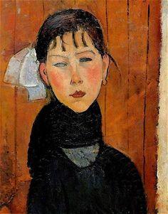 Amedeo Modigliani (Livorno, 1884 - Parigi, 1920) Marie, figlia del popolo, 1918