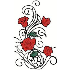 Yeeech Temporary Tattoos Sticker Vine Rose Red Sexy Products for Women Waterproof *** Details can be found by clicking on the image. (This is an affiliate link and I receive a commission for the sales) #Makeup