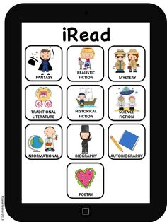 Need a way to encourage your students to read from a variety of genres?  Set up a display or folder where each child has an IPad and they add Apps as they read each genre.