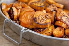 These Caramelized Cane Syrup Sweet Potatoes have very few ingredients and make a delicious side dish.