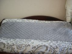 Changing Pad Cover      Grey Traditions Damask by MiaBellaLinens, $32.00