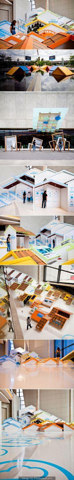 Quite interesting, unexpected exhibition design.