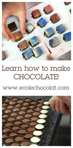 Become a professional chocolatier from any where in the world with our online chocolatier program. Chocolate Bonbon, Chocolate Candy Recipes, I Love Chocolate, Chocolate Bark, How To Make Chocolate, Chocolate Truffles, Homemade Chocolate, Biscuits, Handmade Chocolates