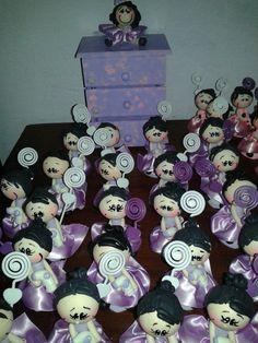 Bonecas em biscuit porta recados