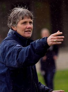 Coaching in the rain, May 2010. (The WNT Blog, U.S. Soccer)