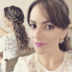 E fomos felizes pra sempre, eu e meu penteado. The end.  #penteadosx #cabelosdivos  #bohostyle #hairdo #cabelosdegrife #romantic