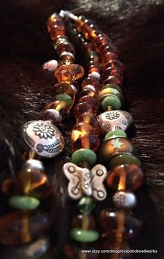 Healing Boho Baltic Amber Bracelet/Silver by EclecticBeadWorks