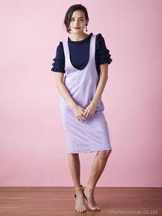 DRWCYS スエードサロペスカート 20,520円(税込) GISELe 2017年4月号掲載
