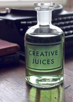 Creative Juices Apothecary Bottle This will be great for my preschool toddlers before craft time! We can just rub on some Creative Juices : )