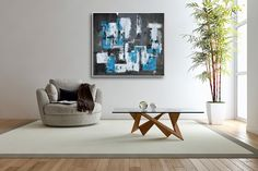 Large Palette Knife Painting on Canvas,  Contemporary Art, Original Painting Hand-painted Modizart by Modizart on Etsy
