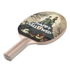 Spooky Haunted House Costume Night Sky Halloween Ping Pong Paddle - Halloween happyhalloween festival party holiday