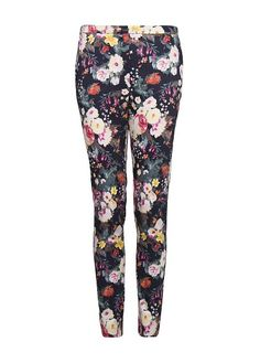 MANGO - Çiçek desenli dar kesim pantolon