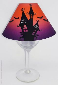 This oh-so-easy-to-make Halloween wineglass lampshade will make your next party or Halloween display a hit. Funny Kid Halloween Costumes, Easy Homemade Halloween Costumes, Halloween Displays, Halloween Decorations, Mini Hershey Bars, Holiday Crafts For Kids, Paper Flowers Diy, Wine Glass, Paper Crafts