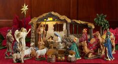 "5"" Scale Full 23pc 'First Christmas Gifts' Nativity Set *FREE SHIPPING* What makes this set unique: Each King s box opens to display the REAL gifts! 23 piece set with REAL gifts of Gold, Frankincense and Myrrh from the Three Wisemen in three separate chests! The dramatic realism and true elements like real gold, frankincense and myrrh make an heirloom that will be a source of meaningful joy for many years. Removable Jesus can lie in Mary s arms (shown) or swaddled in the manger. Each set…"