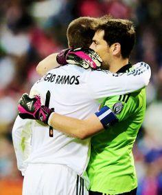 Iker Casillas and Sergio Ramos