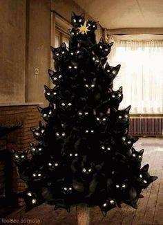 Encontrei no facebook e adorei: sugestão de árvore de Natal!